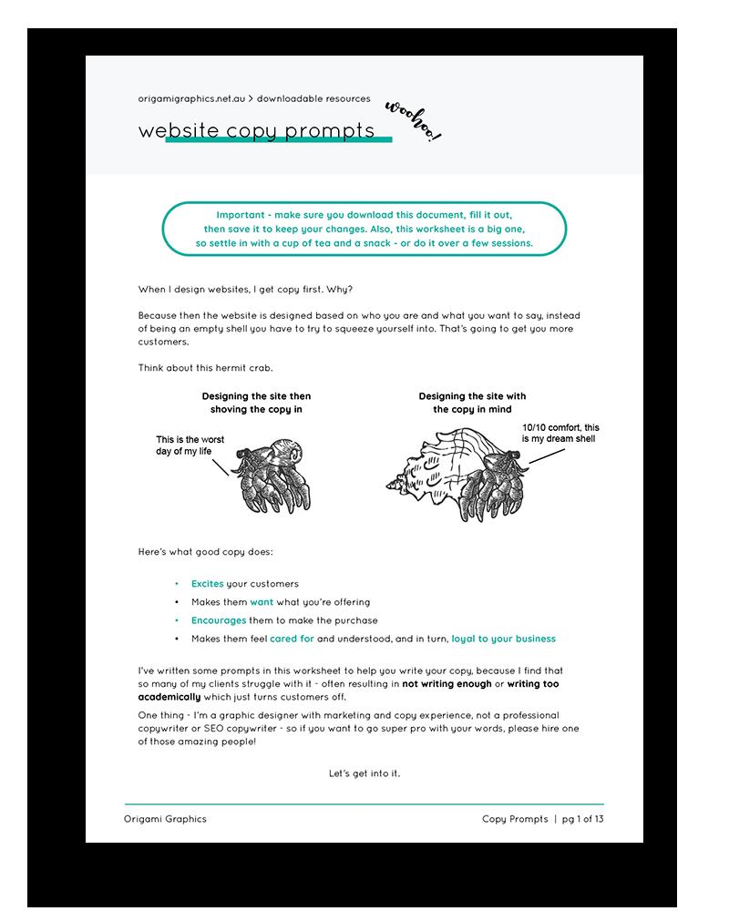 Origami Copy Prompts